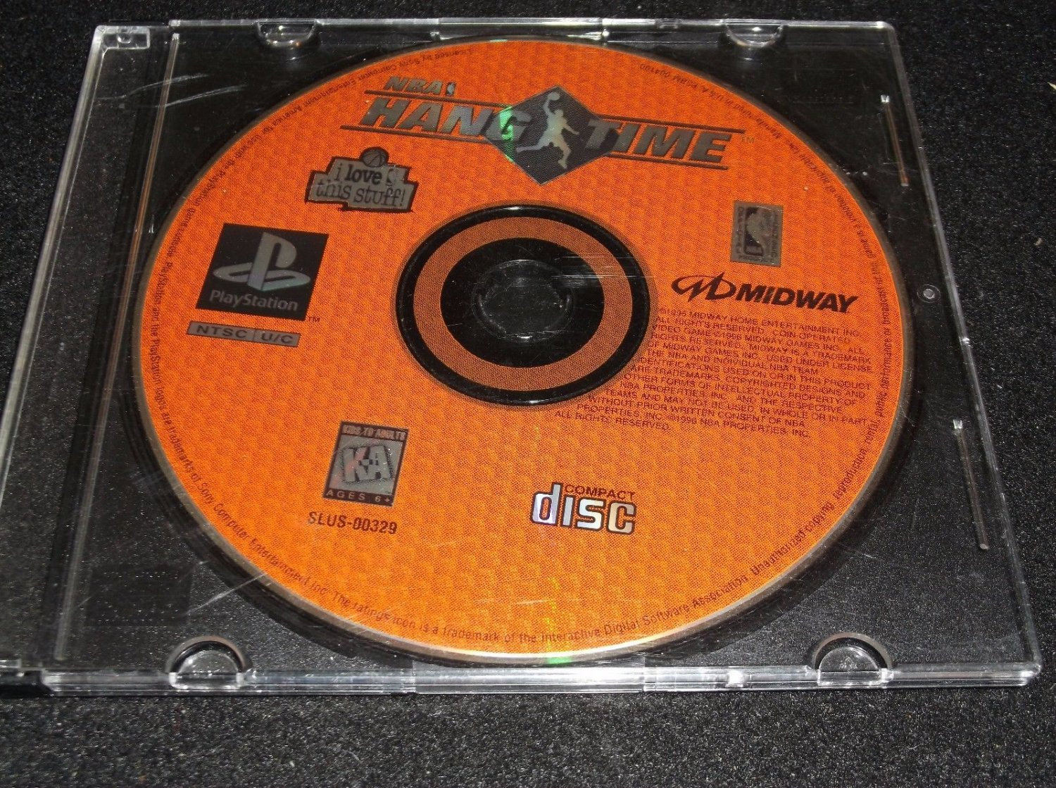 NBA HangTime (Sony PlayStation 1) DISC ONLY