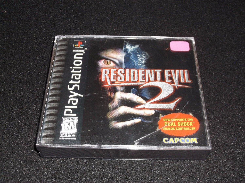Resident Evil 2 rare cib w form ps1  dualshock version Playstation 1998