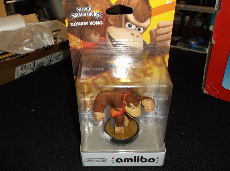 NEW Donkey Kong Amiibo Nintendo Super Smash Bros #4 US Version 1st edition NIB