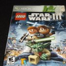 LEGO Star Wars 3 III : The Clone Wars Platinum (Xbox 360)VG Complete With Manual