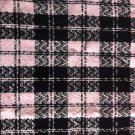 "60"" wide 1 yard Pale Pink and Black Plaid"