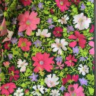 "45"" wide 2 yards 2"" Bright Floral Crepe Fabric"