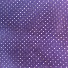 Purple Curtain with Small White Polka Dots