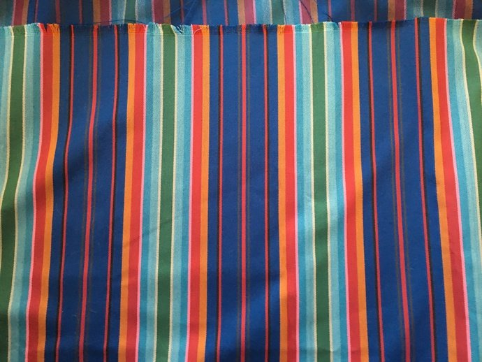 "60"" wide 1 yard 25"" Brightly Striped Cotton"