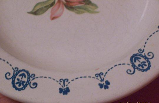 Enamel Child's Bowl with Flower Decoration