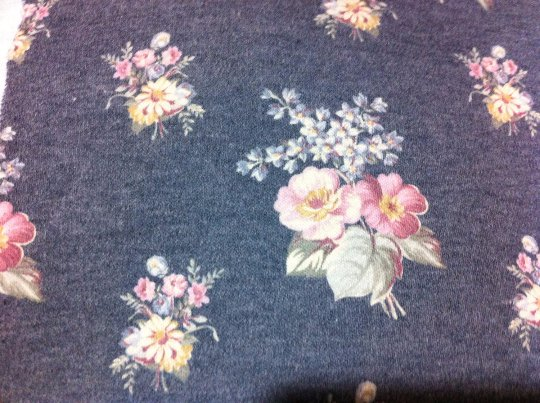 """62"""" wide 3 yards 10"""" Floral Quality Knit"""