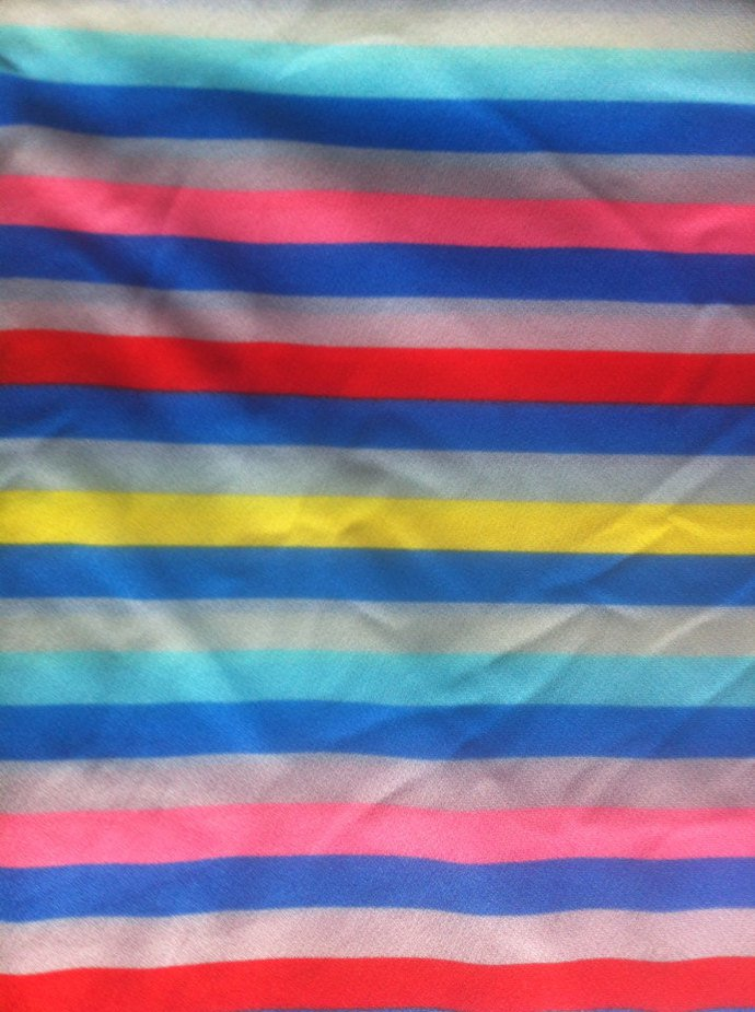 "60"" wide  2 yards Bright Striped Knit."