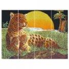 Sunset Leopard Wall Mirror