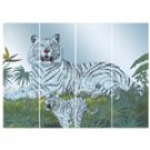 White Tiger Wall Mirror