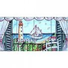 DECORATIVE LIGHT HOUSE VIEW MOSAIC 8 CERAMIC TILES