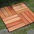 Grooved 4-slat Anti-slip Deck Tiles (Set of 10)