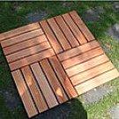 Eucalyptus 5-slat Grooved Deck Tiles (Set of 10)