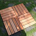 Eucalyptus 5-slat Grooved Deck Tiles (Set of 10)