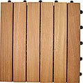 Deck Tile. FSC Eucalyptus. 6 Slat Style. Box of 10
