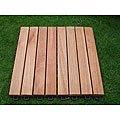 Eucalyptus 8-slat Snapping Deck Tiles (Set of 10)