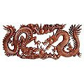 Battle of the Dragons` Wood Relief Panel (Indonesia)