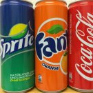 Coca Cola, Fanta and Sprite