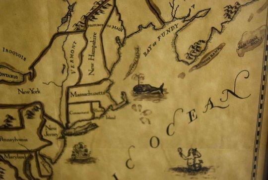 Original Reproduction 1750 Map-13 Colonies, Fm Williamsburg, 1976, Impressive on Parchment