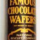 National Biscuit Company(NABISCO)40's Famous Chocolate Wafers TIN, Beautiful Front Cond