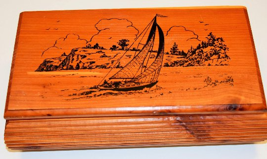 Sailor's Storage, Jewelry, Pockets, Catchall, Cedar Box, Custom Made in LN Cond
