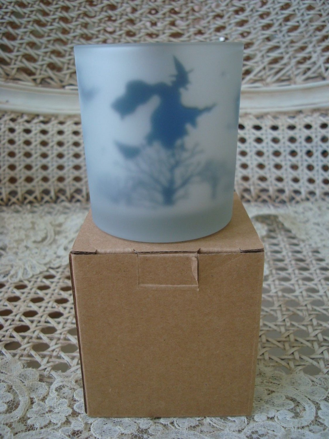 YANKEE CANDLE FLICKERING WITCH HALLOWEEN VOTIVE CANDLE HOLDER NEW IN BOX RETIRED