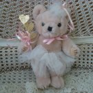 GORGEOUS BALLERINA TEDDYBEAR WITH GOLD GLITTER HEARTS ***GREAT FOR EASTER***
