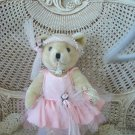 GORGEOUS PINK FRILLY BALLERINA BEAR WITH ROSES INCLUDES STAND **GORGEOUS**