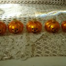 5 MINI PUMPKIN BLOWN GLASS HALLOWEEN ORNAMENTS ***SO CUTE***