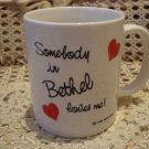 SOMEBODY IN BETHEL LOVES ME CERAMIC MUG ***NEW*** GREAT FOR JEHOVAH'S WITNESSES