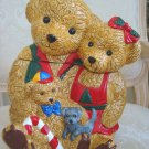 ADORABLE CHRISTMAS BEAR FAMILY CHRISTMAS COOKIE JAR *NEW*