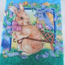 GORGEOUS EASTER BUNNY WITH EGG CART DECORATIVE FLAG *NEW*
