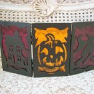 YANKEE CANDLE HALLOWEEN METAL VOTIVE CANDLE HOLDER WITH GLASS CUPS **RETIRED**