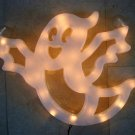 VINTAGE LARGE HALLOWEEN PLASTIC GHOST LIGHT FOR WINDOW ***AWESOME MUST SEE***