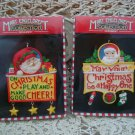 MARY ENGELBREIT SET OF 2 WHIMSICAL CHRISTMAS ORNAMENTS WITH HANGING CHARMS *NEW*