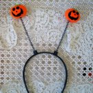 HALLOWEEN PUMPKIN HEADBAND WITH TWO CUTE PUMPKINS MUST SEE  **SO CUTE***