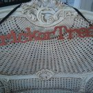 """OLD FASHIONED METAL TRICK OR TREAT GLITTER SIGN 22"""" LONG ***HALLOWEEN DECOR***"""