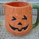 RARE MIDWEST OF CANNON FALLS HALLOWEEN PUMPKIN CERAMIC PITCHER ***SO CUTE***