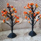 SET of 2 RARE HALLMARK FAUX CANDY CORN PUMPKIN HALLOWEEN TREES **SO CUTE***
