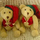 SET OF 2 AWESOME PIER 1 CHRISTMAS ELF BEARS **SO CUTE*** NEW