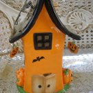 HALLMARK HALLOWEEN CERAMIC HAUNTED HOUSE TEALIGHT VOTIVE HOLDER ***RETIRED***