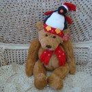 "ADORABLE GUND 16"" TALL CHRISTMAS BEAR PENGUIN SANTA HAT & SCARF ***SO CUTE***"