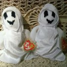 TWO ADORABLE TY BEANIE BABIES HALLOWEEN GHOSTS *****SPOOKY******
