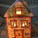 CHERISHED TEDDIES ADORABLE CHRISTMAS VILLAGE LIGHT UP VILLAGE HOUSE