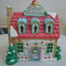 ADORABLE CHRISTMAS VILLAGE  LIGHT UP VILLAGE HOUSE WITH CANDY CANES