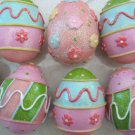 SET OF 12 SPARKLING GLITTER RESIN EASTER EGGS SET #1  **DAZZLING**