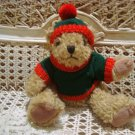 CHRISTMAS TEDDY BEAR IN HOLIDAY SWEATER WITH HANGER  **NEW*** *SO CUTE**