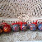 6 ROUND BALLS TEDDY BEAR CHRISTMAS ORNAMENTS SET #3 **SO CUTE** NEW