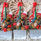 HOLLY BEARIES 3 RETIRED CHRISTMAS BEARS WITH SHOVELS CHRISTMAS ORNAMENTS **NEW**
