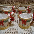 CHRISTMAS SANTA BEAR SET OF 4 CERAMIC CHRISTMAS MUGS ***SO CUTE***