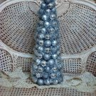 GORGEOUS LARGE SILVER CHRISTMAS TREE WITH GLITTER CHRISTMAS BALLS ***SO PRETTY**